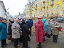 Экскурсия участников краеведческого кружка по ул.Спасской