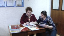 Встреча заведующего отделением Кирилловой В.В. с председателем комитета ТОС «Северный» Башмаковой В.Г. по вопросу выявления нуждающихся в социальном обслуживании на дому граждан пожилого возра