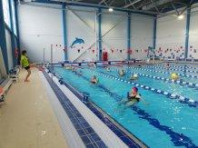 Аквааэробика в новом бассейне.